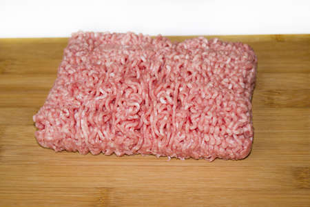 minced meat on a cutting board photo