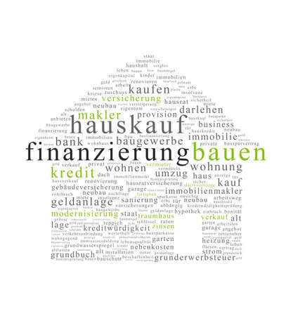 curren: hauskauf Form  Stock Photo