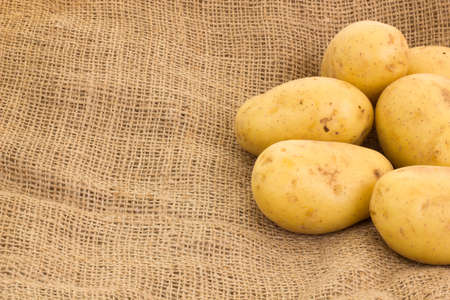 potatoes on potato sack