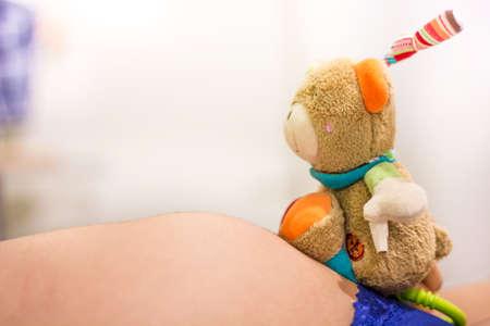 Vorfreude auf das Baby Stock Photo