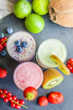 Three different smoothies