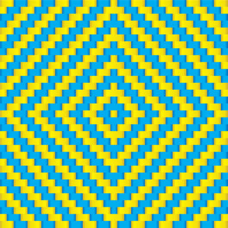 Weave Pattern Blue Yellow