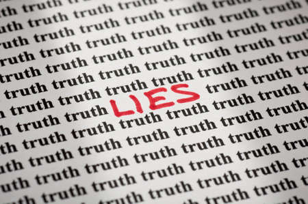 untruth: Lies in truth Stock Photo