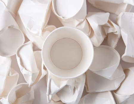Disposable cups background Stock Photo - 13065949