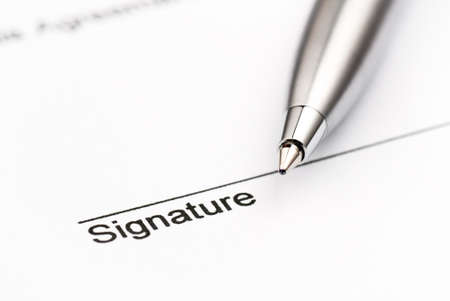 the signature: Contract ready for signature