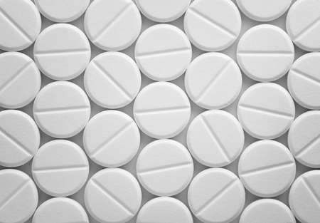 White tablet pills background Stock Photo - 15059248