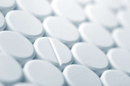 White tablet pills background , full frame Stock Photo - 15112115