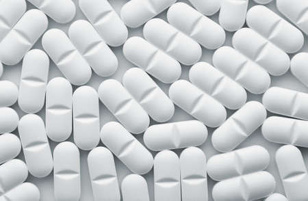 White tablet pills background , full frame Stock Photo - 15755181