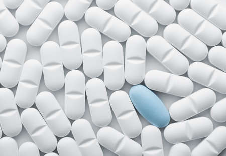 White tablet pills background , full frame photo