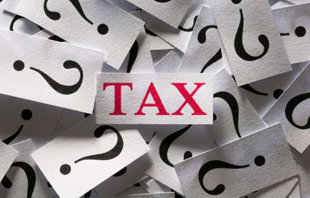 Question about the Tax , too many question marks Stock Photo - 17200101