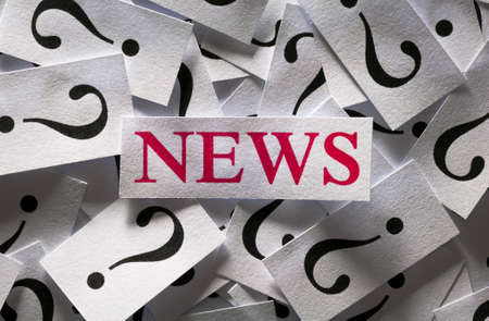 Question about the News , too many question marks Stock Photo - 17200101