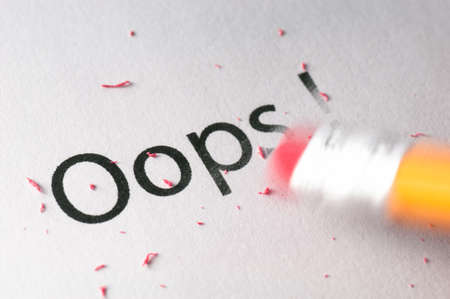 removing: Removing word with pencil Stock Photo