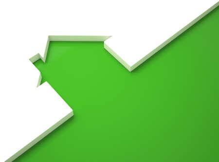 risparmio energetico: Ecologic casa, contorno verde su bianco