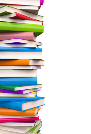 Colorful Books , Clipping Path , 3d render photo