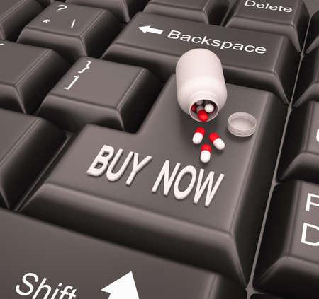 Online pharmacy , buy now , 3d render photo