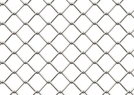 delimit: Seamless Chainlink Fence , Isolated on white , 3d render