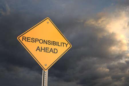 risks ahead: Camino amarillo se�al de advertencia, Responsabilidad Ahead