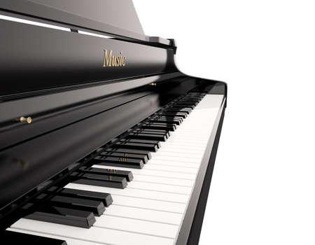 piano de cola: Piano de cola, con copia espacio, 3d