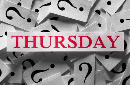 Questions about the Thursday , too many question marks photo
