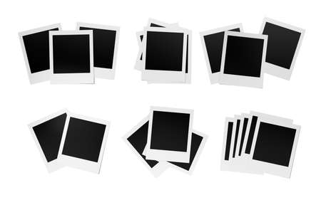 Blank photos , Isolated on white background , copy space photo