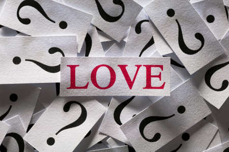 Questions about the Love , too many question marks photo