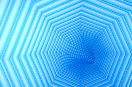 Abstract spiral hexagon corridor background , 3d render