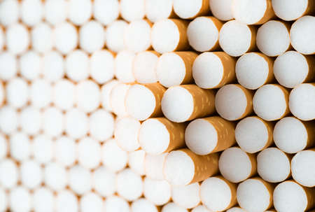 Close up , Cigarettes filter background Stock Photo