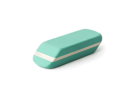 Eraser , isolated on white Фото со стока