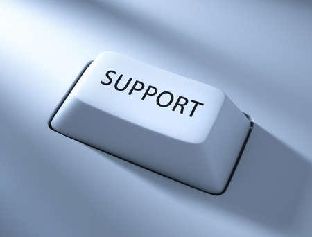 Support , computer key , blue toned with soft light Banco de Imagens