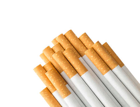 Cigarettes with clipping path , copy space Stock Photo