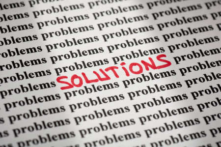 Solutions in problems