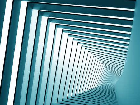 Abstract spiral square background , 3d render Banco de Imagens