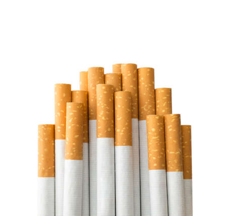 Cigarettes with clipping path