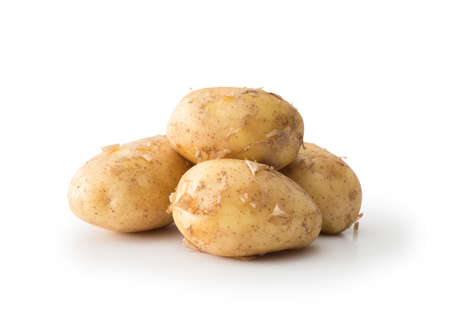 Potatoes , isolated on white