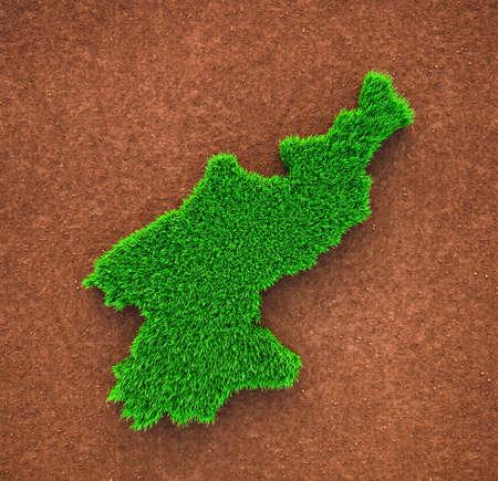 North Korea, Grass, Nature, Map