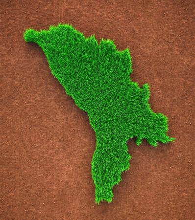 Moldova, Grass, Nature, Map Zdjęcie Seryjne