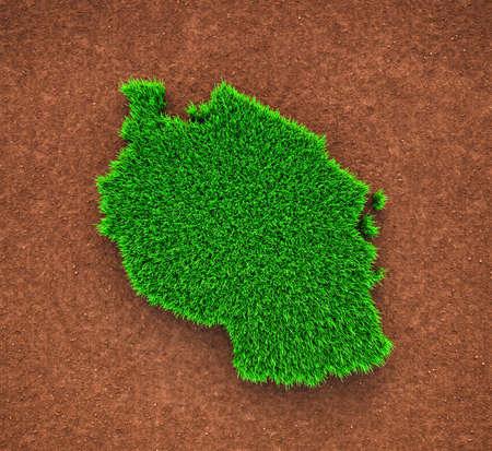 Tanzania, Grass, Nature, Map Zdjęcie Seryjne