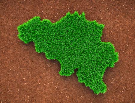 Belgium, Grass, Nature, Map