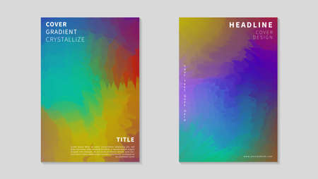 Colorful Abstract Crystallize Cover Design. Can Be Used For Poster, Brochure or Flyer.