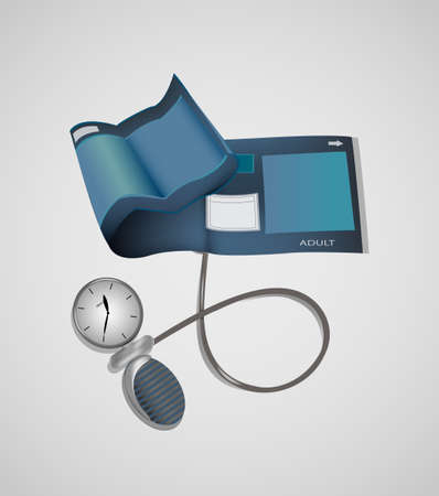 cuff: illustration of blood pressure monitor