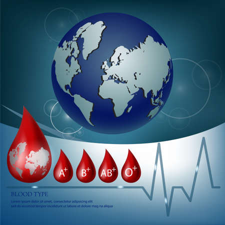 blood type: medical background with blood type icon Stock Photo