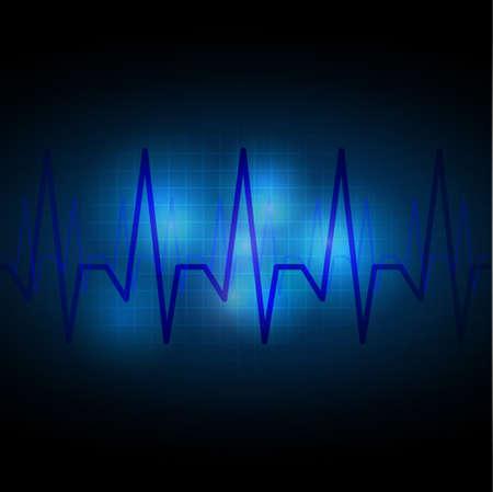 cardiograph: Heart beats cardiogram