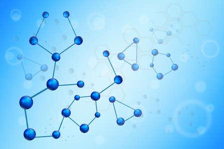 substances: Moleculer illustration background Illustration