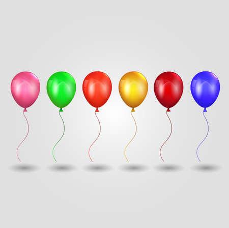 celebration: Set of celebration balloons Stock Photo