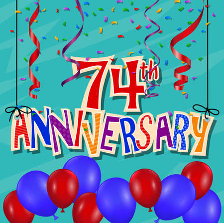 birthday party background: Anniversary celebration background with confetti and balloon