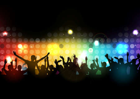 Club party with dancing people