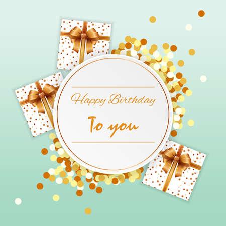 Happy birthday card Illustration