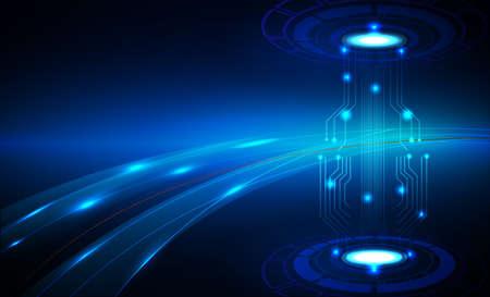 hi speed: Hi speed internet technology abstract background Illustration