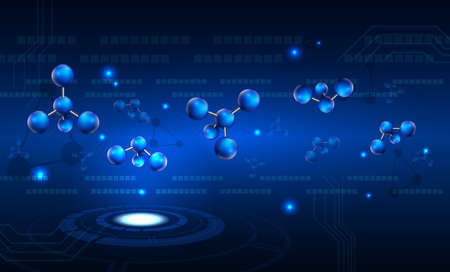 technology abstract background: Abstract molecule technology background