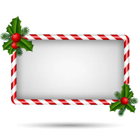 christmas candy: Christmas card with candy frame